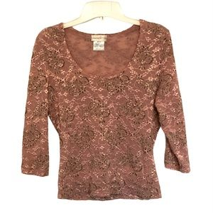 Vintage eyelet top. Made in Montreal